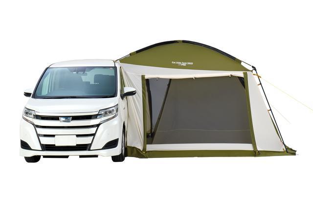 画像: 「コールマン」が提案する新キャンプスタイル「コンビニエンスキャンプ」として登場した新製品「カーサイドテント/3025」