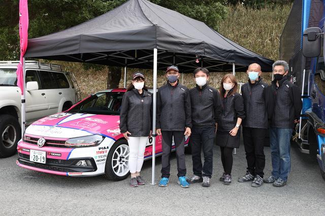 画像: 圭rally projectのメンバー。みんな信頼できる人たちばかりで、サポートにとても感謝しています。