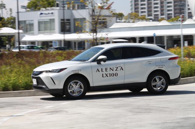 画像: 現行型ハリアーにアレンザLX100を装着して試乗。国産SUVに装着できるサイズも多くラインナップする。