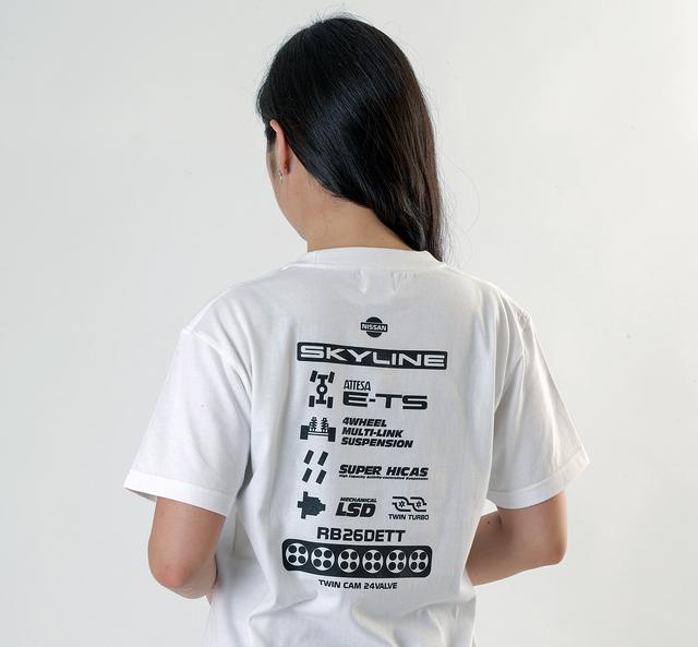 画像: 「ファンクショナル ver.B」では、背中にGT-Rのさまざまな機能が描かれている。