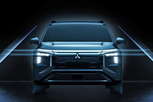 画像: 三菱が上海モーターショーで公開した、新型エアトレックのデザイン。画像を加工して少し明るくしてみた。ダイナミックシールドを採用した、三菱車らしい顔つきだ。