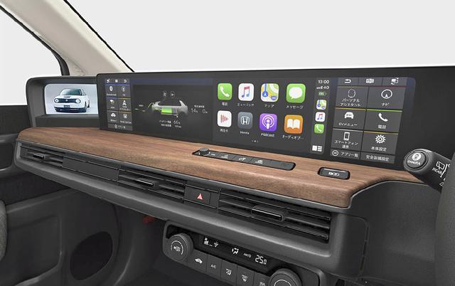 画像: 2画面の大型タッチパネルモニター「ワイドスクリーン ホンダコネクト ディスプレイ」。