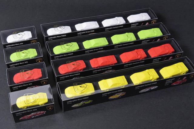 画像: 限定100setのランボルギーニ消しゴム 4BOX(20個)の価格は、1万4300円。