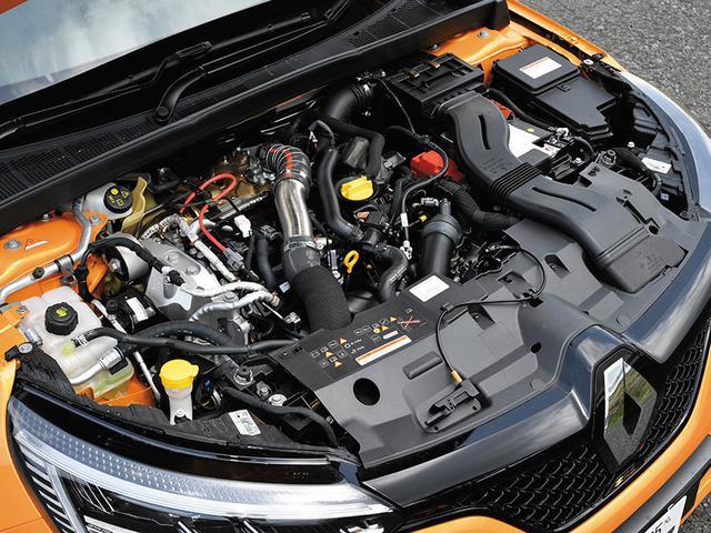 画像: 1.8L直4ターボエンジンを搭載。メガーヌR.S.もR.S.トロフィーと同様に最高出力300ps、最大トルク420Nmを発生する。