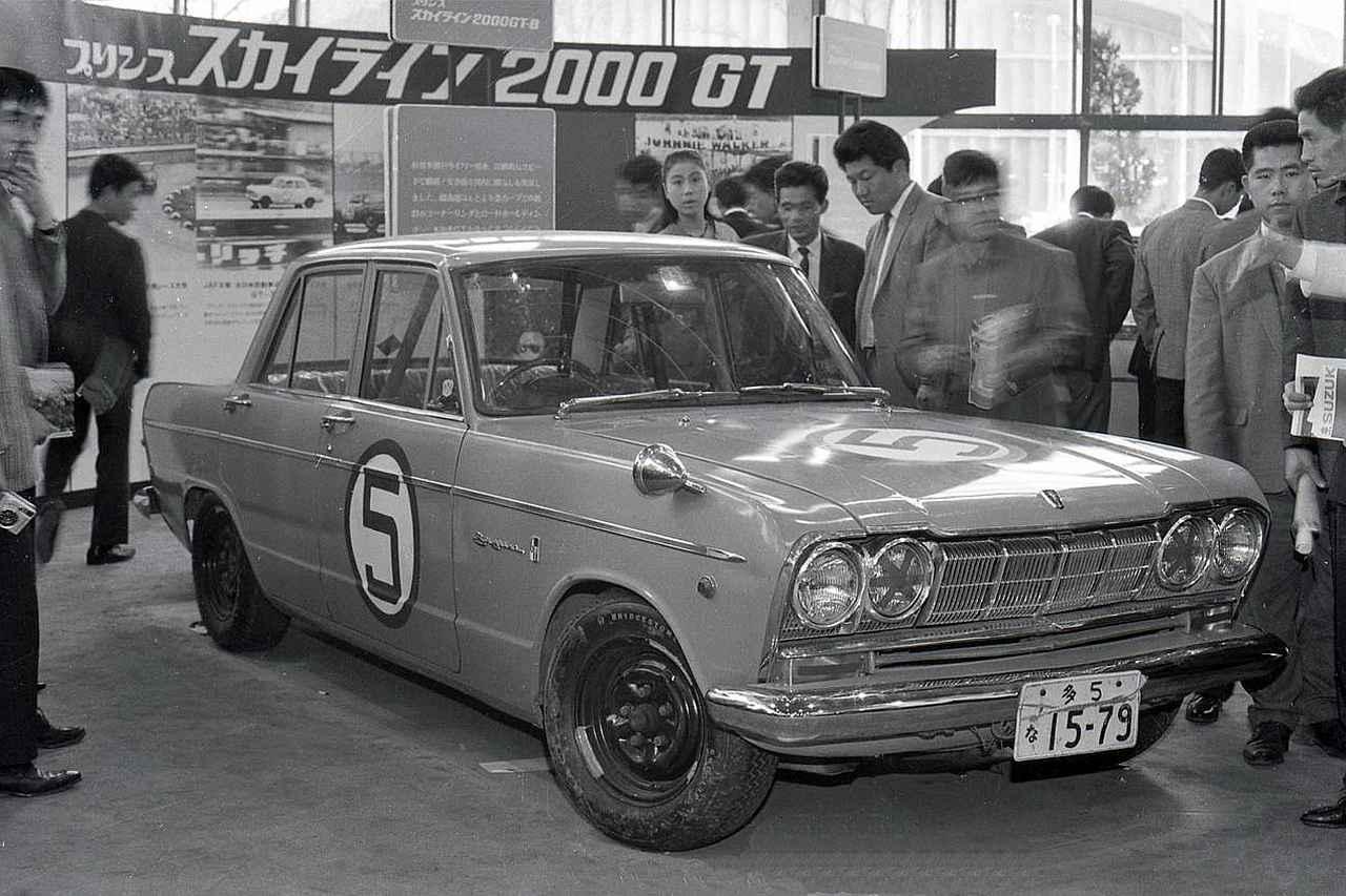 画像: 1965年10月の東京モーターショーに展示されたスカイライン2000GT-B。