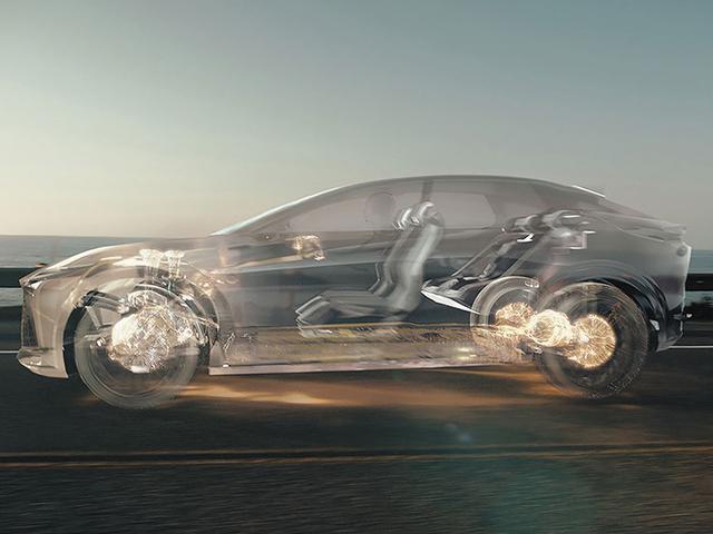 画像: レクサスLF-Zエレクトリファイドの走行イメージ。