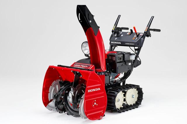 画像: 小型除雪機 HSS 760n(J):移動も除雪もレバー1本で操作できる簡単さと、無段階で速度調整が可能な取り扱いやすさで幅広い地域で利用されている。HSS 760n(J):36万9600円。