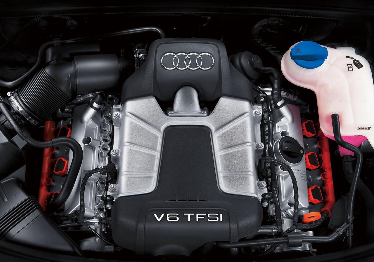 画像: A6 3.0TFSIクワトロに搭載される290psを発生する4.2FSI CAJ型直噴式3L V6DOHCスーパーチャージャーエンジン。それまでトップエンジンだったV8の4.2FSI(350ps/440Nm)に迫るパフォーマンスを備える。スーパーチャージャーはVバンク間に配置される。