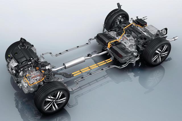画像: 「508 GT HYBRID」のプラグインハイブリッドシステム。