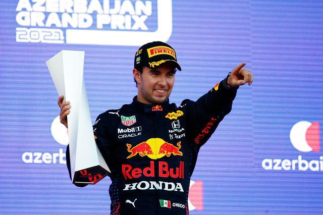 画像: 今季初優勝を果たしたセルジオ・ペレス(レッドブル・ホンダ)。