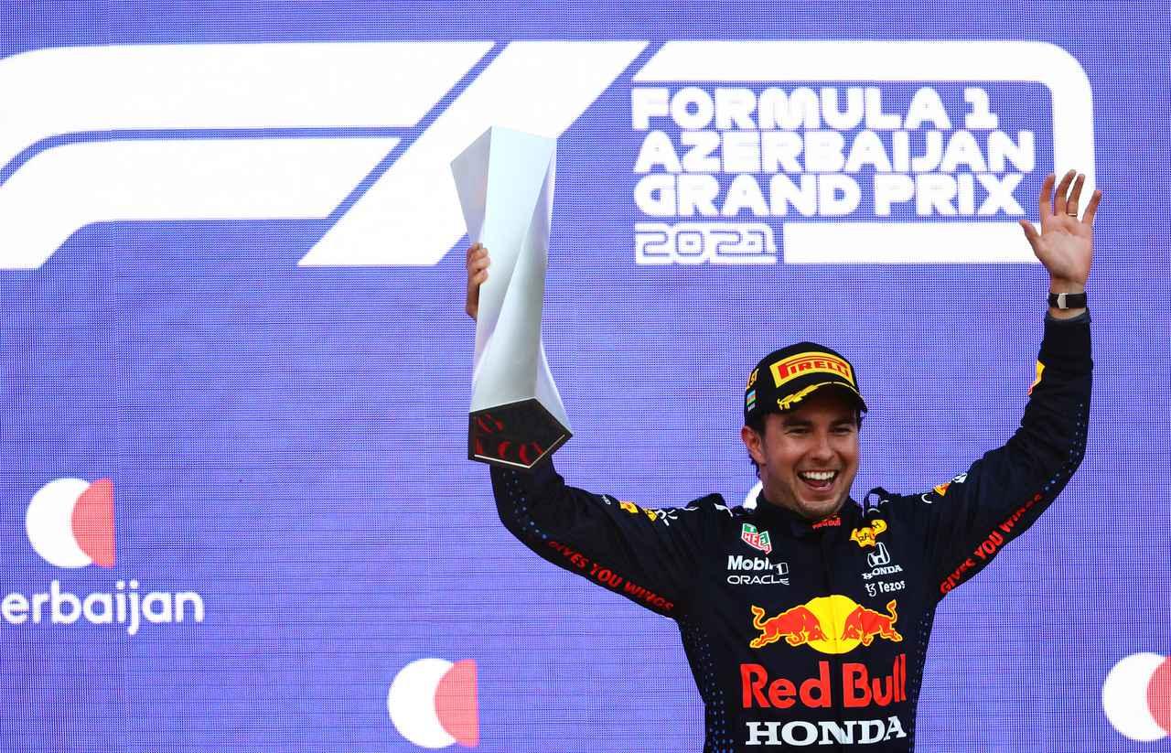 画像: キャリア2勝目、レッドブル・ホンダ移籍後初となる優勝をあげたセルジオ・ペレス(レッドブル・ホンダ)。