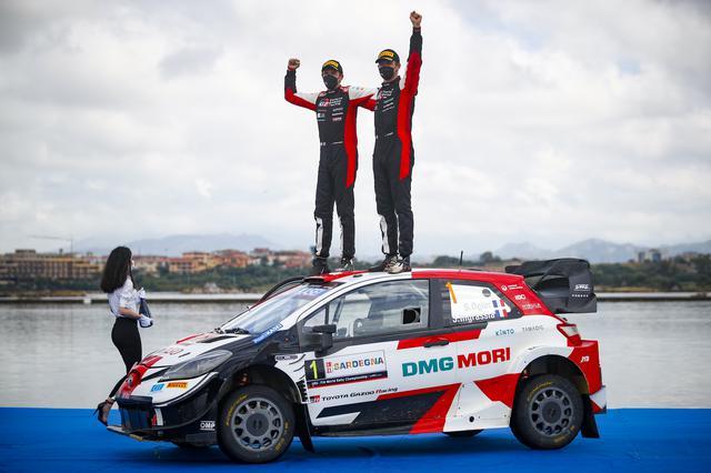 画像: オジェのサルディニアでの優勝は2015年以来、通算4回目。トヨタにとってはサルディニア優勝は初めて。トヨタは開幕からの5戦で4勝し、そのうち3戦で1-2フィニッシュを達成するなど好調。マニュファクチャラー選手権首位を守り、2位のヒュンダイに対するリードを49ポイントに拡げた。