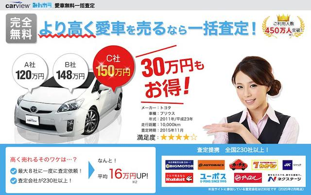 画像: 画像引用:買取カービュー carviewform.yahoo.co.jp