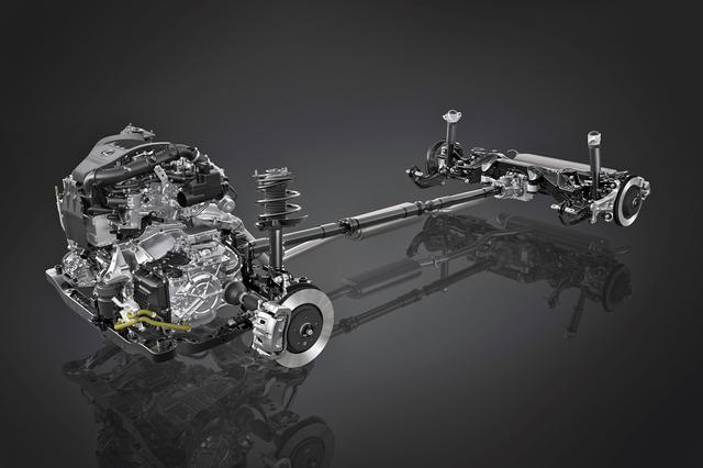 画像: 新開発の2.4Lターボエンジンは高トルク対応型ダイレクトシフト8速ATと電子制御フルタイム4WDを組み合わせて搭載される。