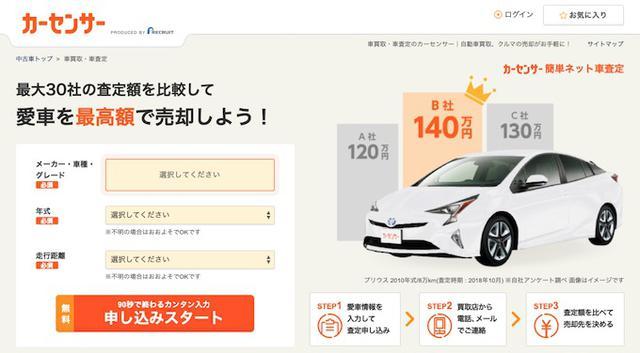 画像: 画像引用:カーセンサー kaitori.carsensor.net