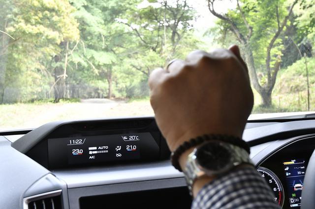 画像: グーでダウン、パーでアップ。運転しながらも目線を外さずジェスチャーだけでエアコン設定温度が調整できる。