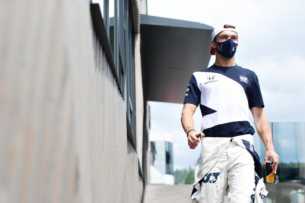 画像: 6番グリッドを獲得したガスリー 。フリー走行2回目を走れなかったが、その不利を感じさせなかった。