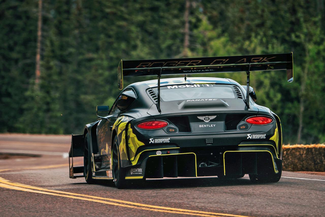 画像: コンチネンタルGT3 パイクスピークが、再生可能燃料で走る最速のレースカーであることは証明された。