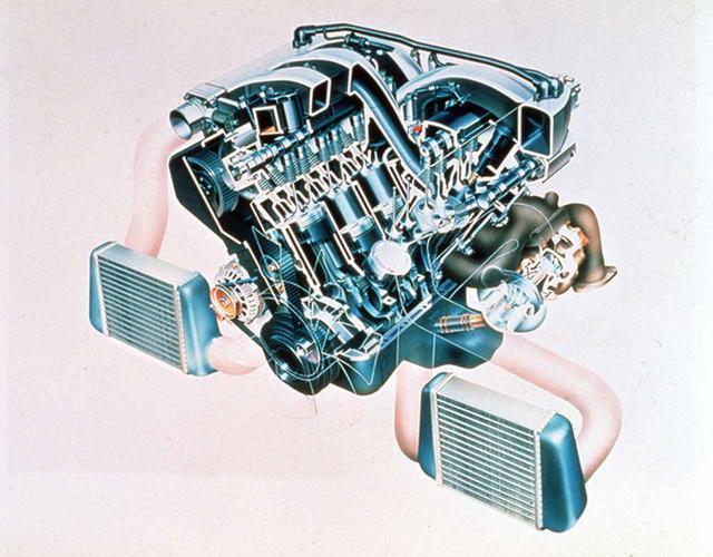 画像: インタークーラー、スロットル、インテークコレクター、ターボ、エキマニまで「ツイン」で徹底したVG30DETT。