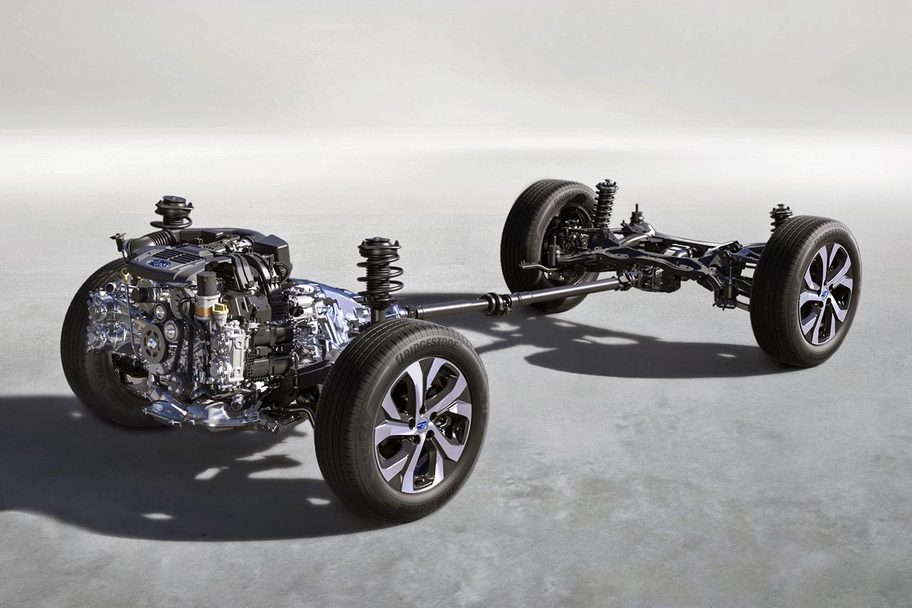 画像: スバル最新のシンメトリカルAWDシステム。