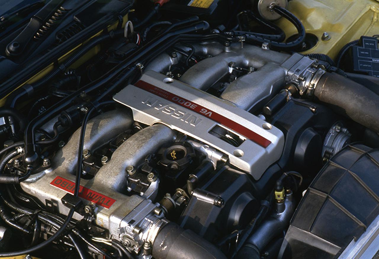 画像: 280psという当時の国産車として超弩級のハイパワーを達成したVG30DETT。DOHC+ツインターボで大幅なパワーアップを果たした。