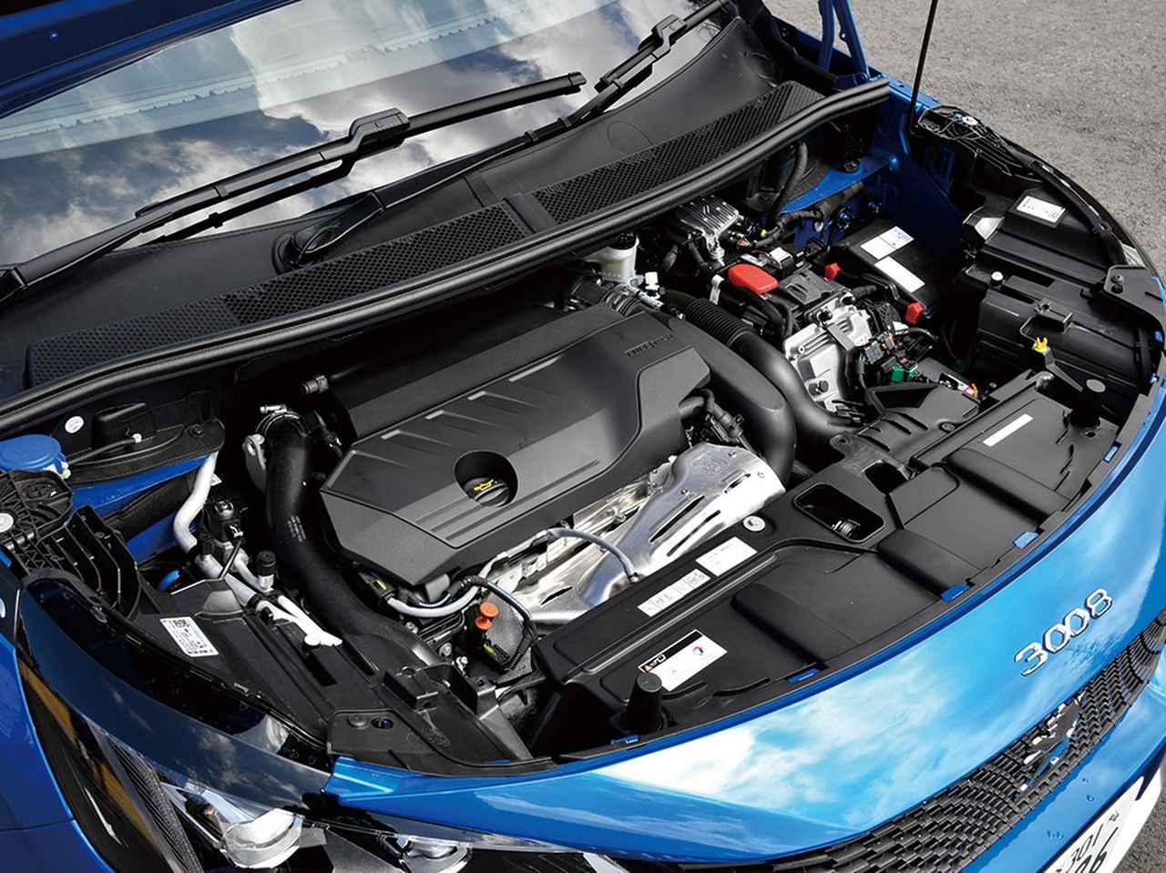 画像: 3008GTハイブリッド4。直4ターボと電気モーターの組み合わせで、システム出力は300ps/520Nmを発生。ブランド初の4WDシステムも採用。