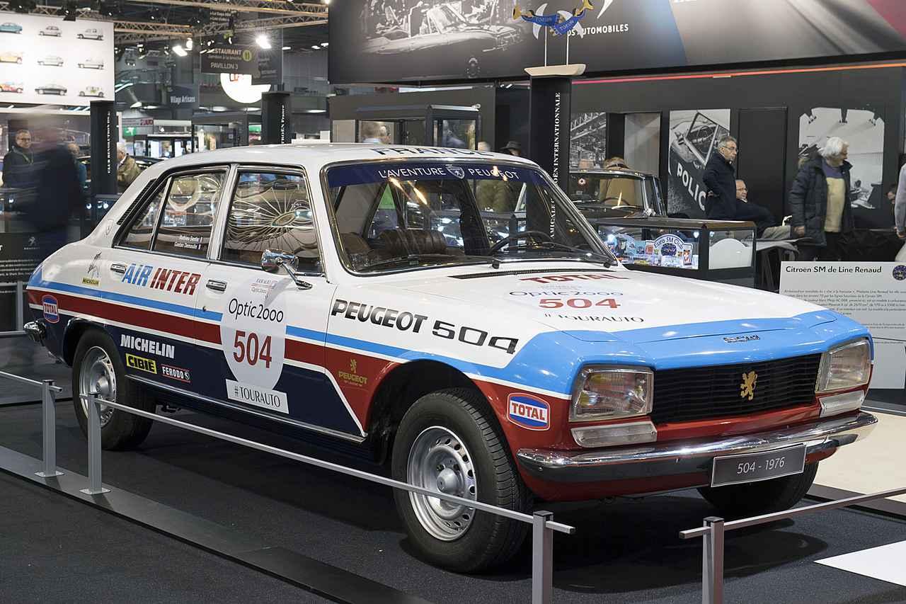 画像: 504セダンのラリーカー。1970年代のサファリ ラリーなどで活躍した。