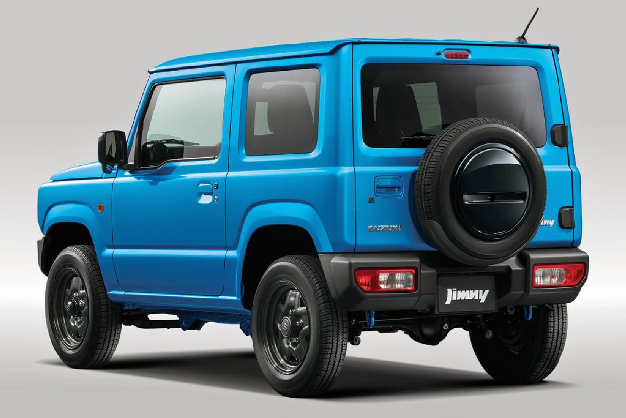 画像: スペアタイヤ ロアカバーが追加された、ジムニー XL。
