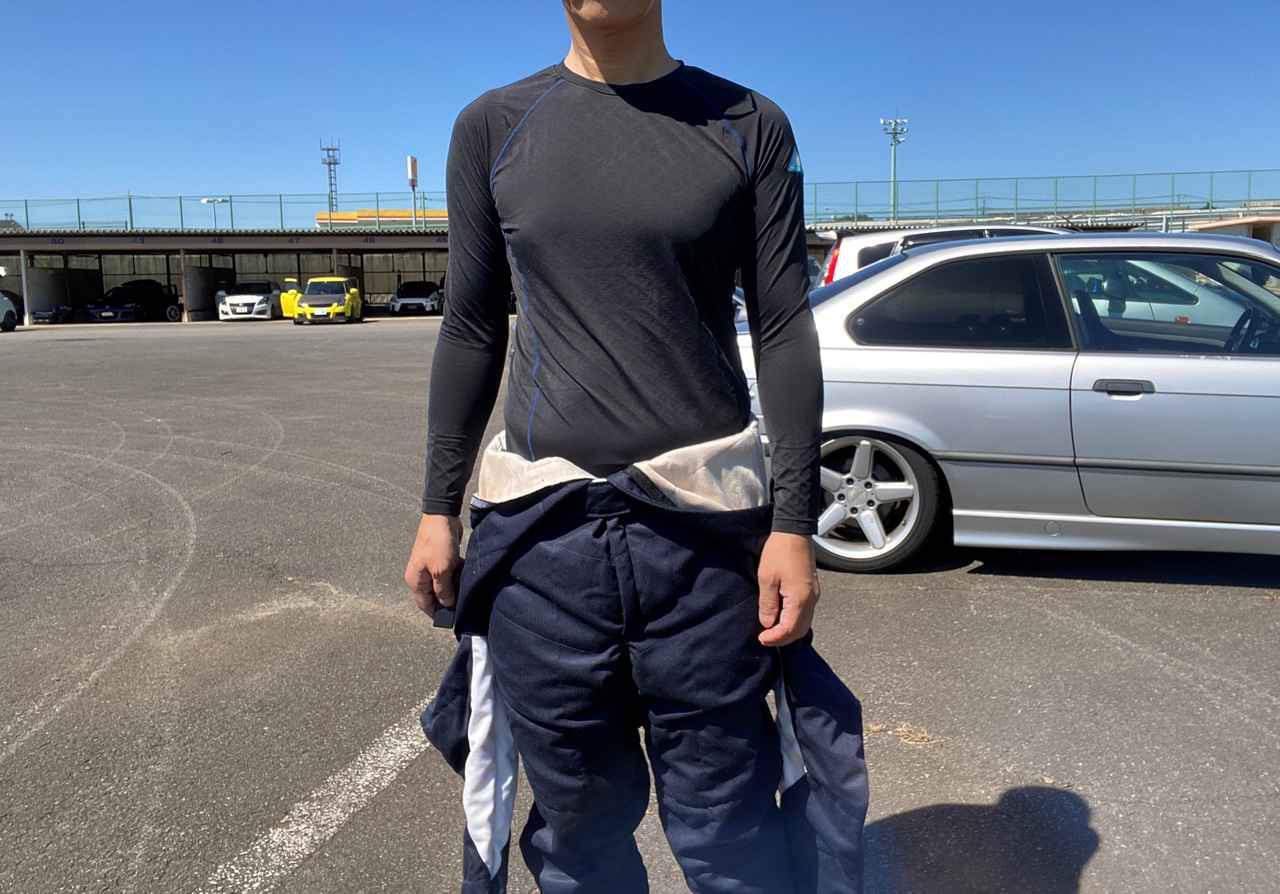 画像: 9月とはいえ強い日差しの照りつける筑波サーキットのスポーツ走行でフリーズテックを着用してみた。