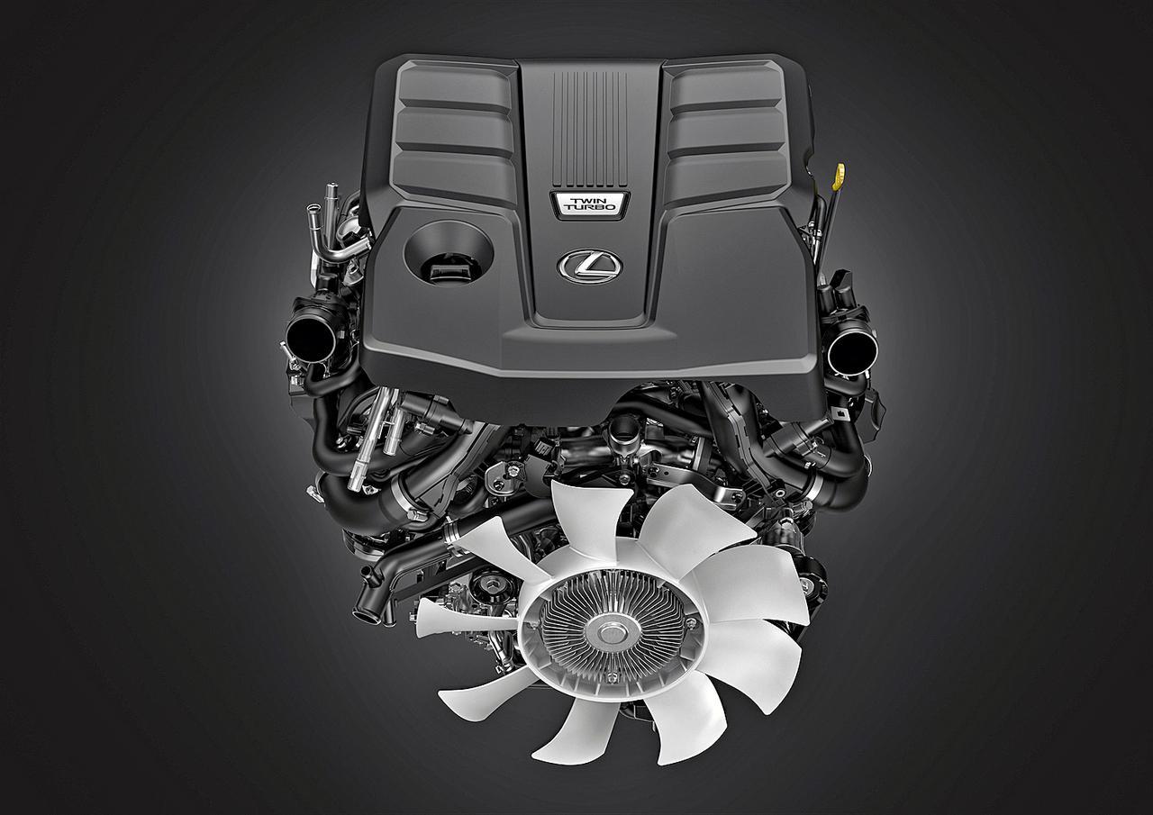 画像: 新開発の3.5L V6ツインターボエンジン。