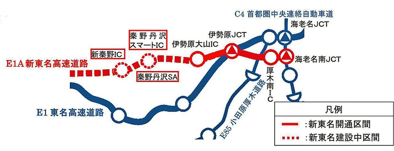 画像: 今回、開通する区間の位置図。