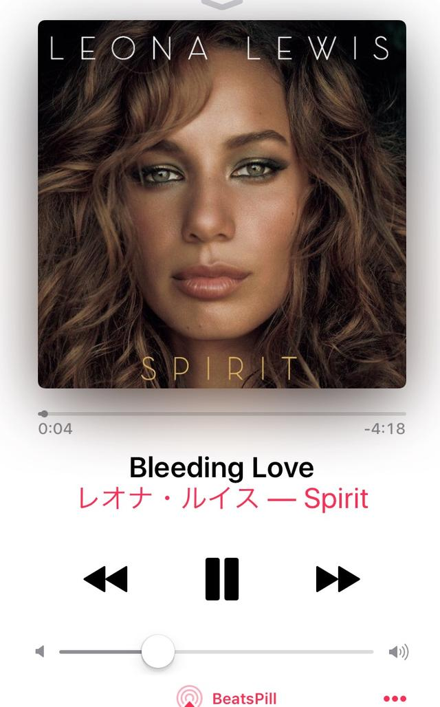 画像: Leona Lewis / Bleeding love  (2007) 手のひらでいつでも簡単に 曲を探せて聴ける時代。 (O.Aも生でも遡ってもお聴きくださいね!)