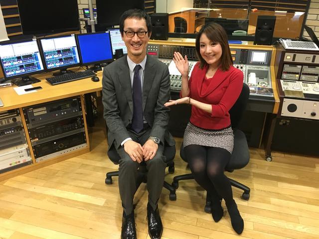 画像: ECC水野さんとDJケイちゃん。 水野さんはいつも詳しい音楽情報と まっすぐな姿勢で収録を見守ってくださいます。 ありがとうございます。
