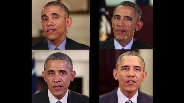 画像: Teaser -- Synthesizing Obama: Learning Lip Sync from Audio youtu.be