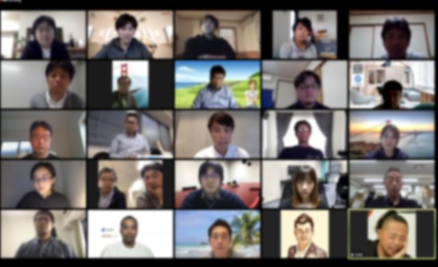 画像: 総勢26名の皆さまにご参加いただき、後半はオンラインでのフリーディスカッションを行いました。