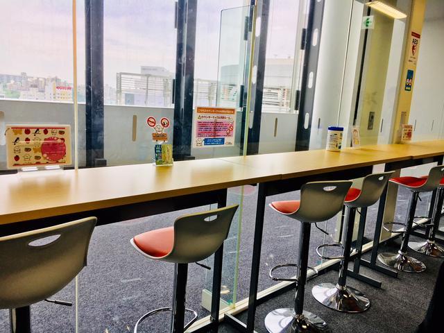 画像1: カウンターテーブルの休憩スペース