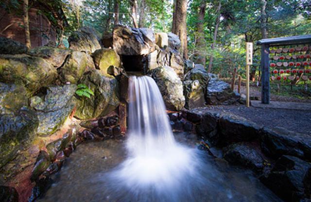 画像: 椿岸神社横にあり、金龍明神滝よりの流れをいただく滝。開運成就、恋愛成就など願いを叶えると云われていることから名付けられました。 tsubaki.or.jp
