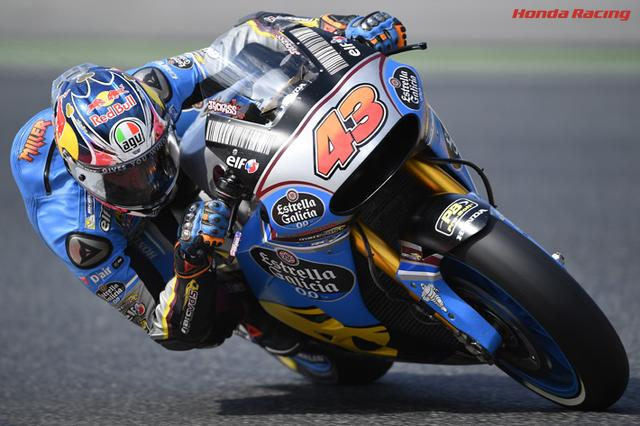 画像: ホンダRC213Vを駆るJ.ミラー。現在MotoGPのランキング争いでは13位(30ポイント)につけています。 www.honda.co.jp