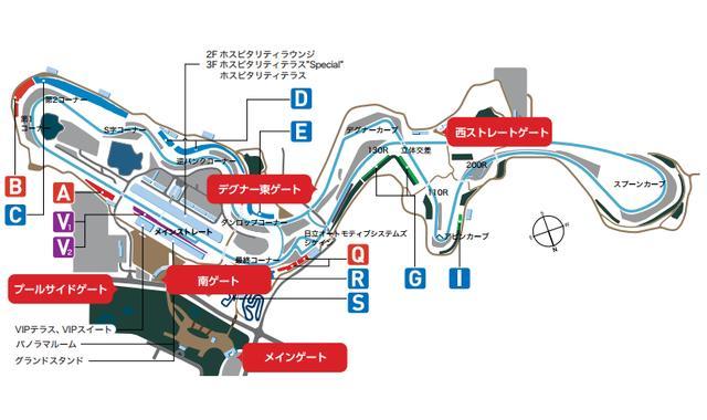 画像: 入場ゲートマップ