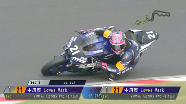 画像: SBK(世界スーパーバイク選手権)でヤマハYZF-R1に乗るA.ローズ。チームメイトの中須賀のタイムに挑みましたが、わずかな差で及びません・・・。 www.youtube.com