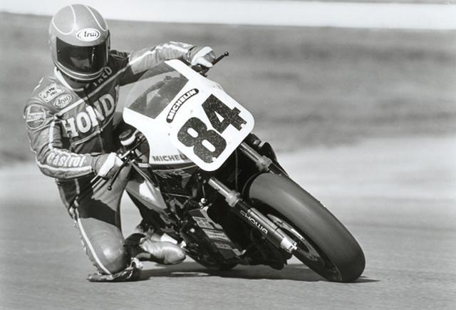 画像: 1983年シーズン、AMAスーパーバイクのルーキーとしてホンダVF750Fに乗るF.マーケル。 www.motorcyclemuseum.org