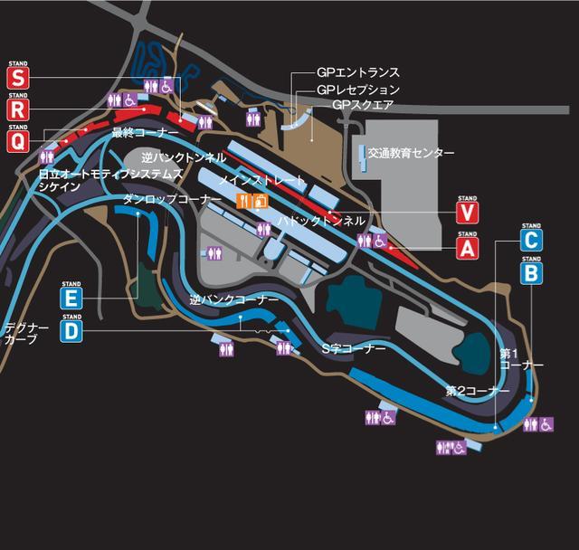 画像: 参考:グランドスタンド位置情報 www.suzukacircuit.jp