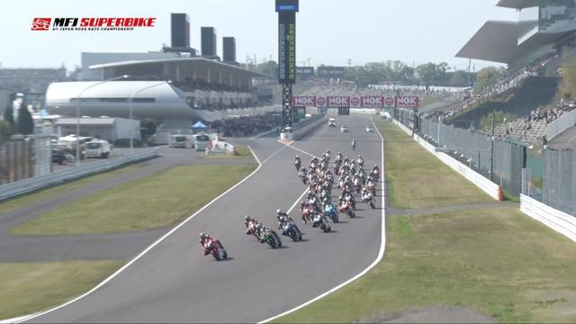 "画像: 2018 MFJ SUPERBIKE : SUZUKA Rd2 2&4 Race JSB1000 ""Race 1"" In Action youtu.be"