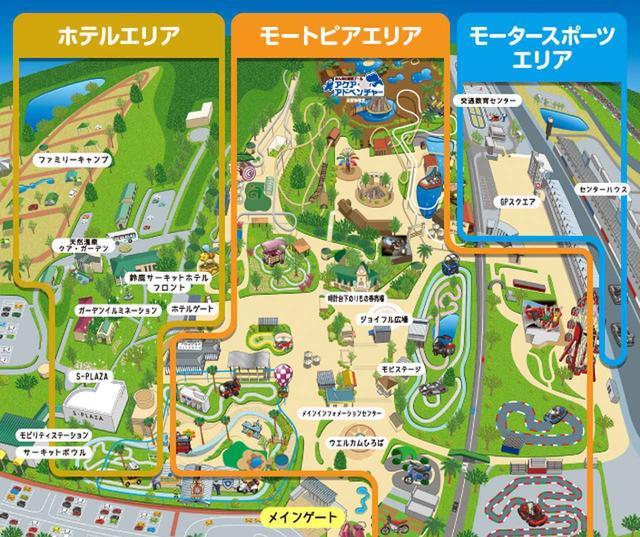 画像: クア・ガーデンはマップ左手のホテルエリアにあります www.suzukacircuit.jp