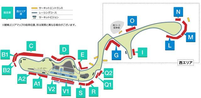 画像: 観覧エリアマップ www.suzukacircuit.jp