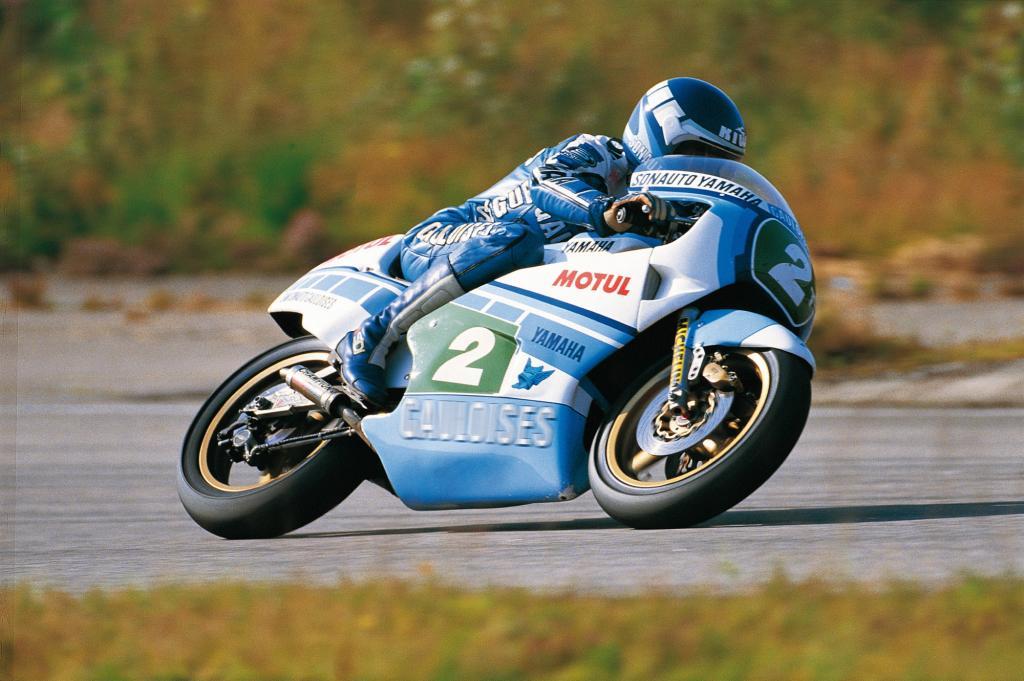 画像: 1984年、世界ロードレースGP250ccクラスで、王者となったC.サロン(ヤマハ)。 www.yamaha-community.fr