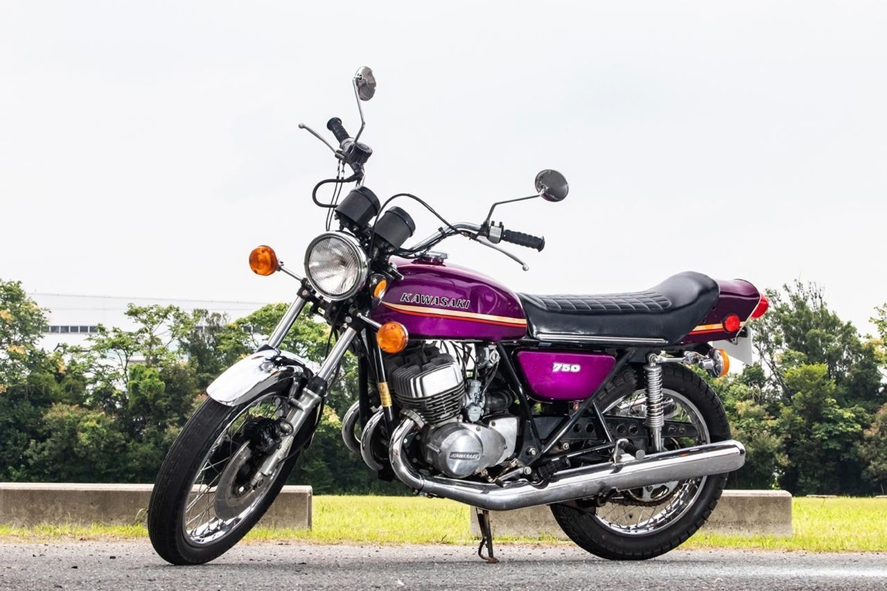 画像: ロットナンバー18:1973 KAWASAKI 750SS MACH Ⅳ H2A / H2F 予想落札価格 ¥1,300,000 - ¥2,200,000 カワサキのマッハシリーズの最大排気量モデルが、H2こと750SSです(輸出名マッハⅣ)。なおこの個体の走行距離は、9,224マイル(14,845km)とのことです。 bhauction.com