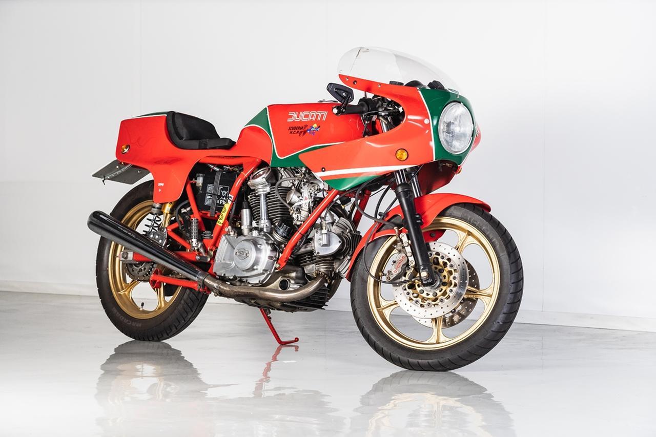 画像: ロットナンバー2:DUCATI 900MHR 予想落札価格 COMING SOON 1978年のM.ヘイルウッドのマン島TT-F1優勝を記念して生み出されたモデル。いわゆるドゥカティベベル系の最大ヒット作となりました。この車両は各部がカスタムされてますね。 bhauction.com