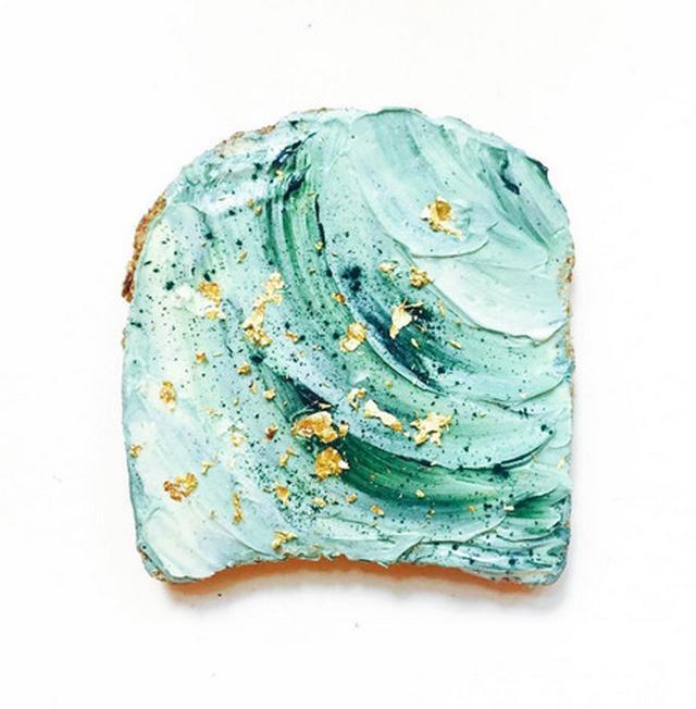 画像2: お花見に大活躍!「こう見えてヘルシー」なマーメイドトーストがブレイク中