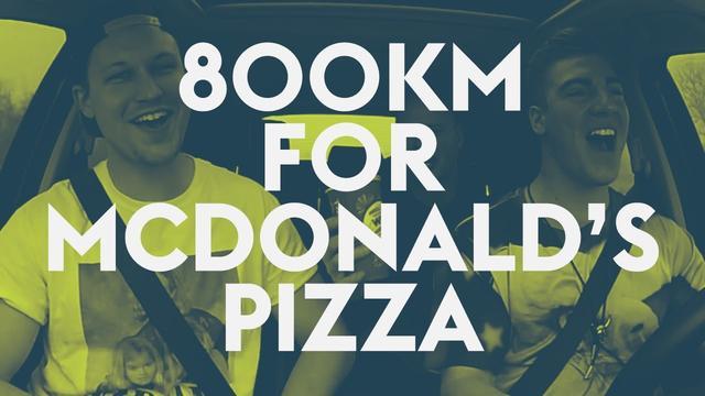 画像: 3 guys travel 800km to buy McDonald's Pizza in West Virginia youtu.be